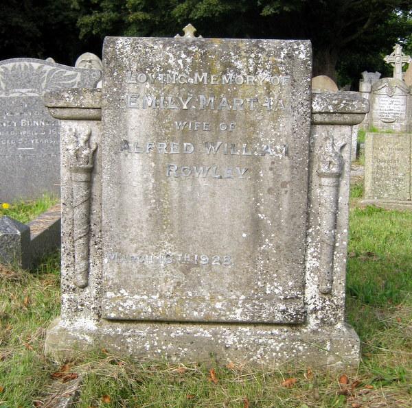 Rowley Emily Martha wife of Alfred