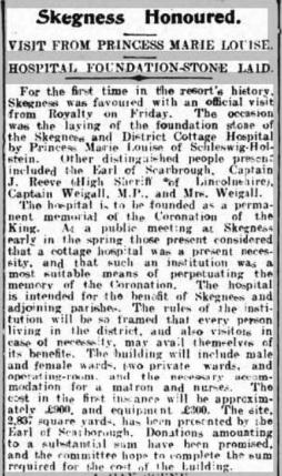 1-skegness cottage hospital foundation stone 1911 a
