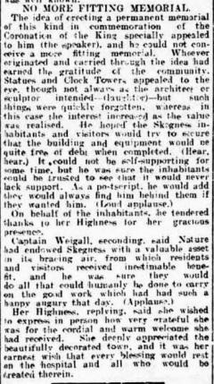 1-skegness cottage hospital foundation stone 1911 c